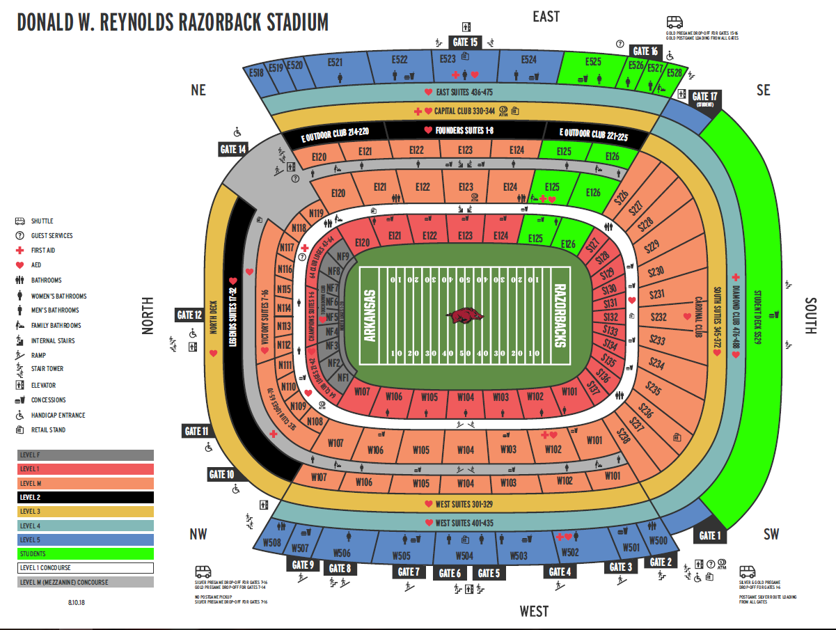Razorback Stadium Seating Chart
