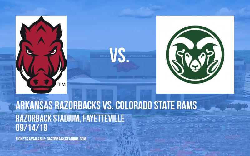 Arkansas Razorbacks vs. Colorado State Rams at Razorback Stadium