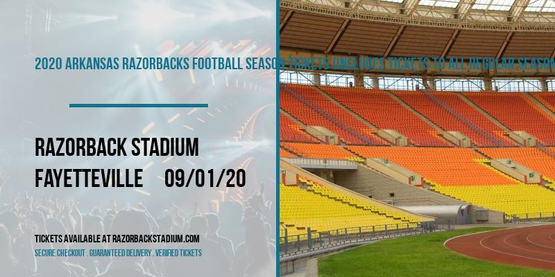 2020 Arkansas Razorbacks Football Season Tickets (Includes Tickets To All Regular Season Home Games) at Razorback Stadium