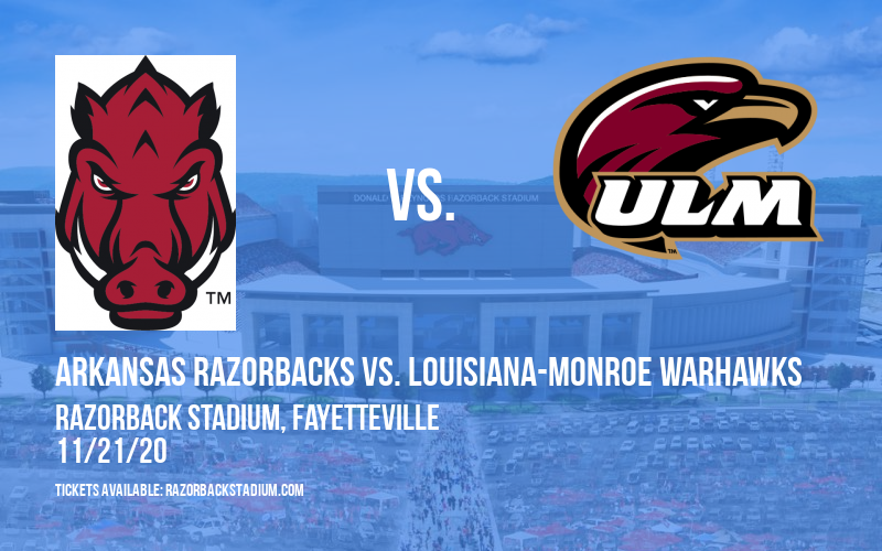 Arkansas Razorbacks vs. Louisiana-Monroe Warhawks at Razorback Stadium