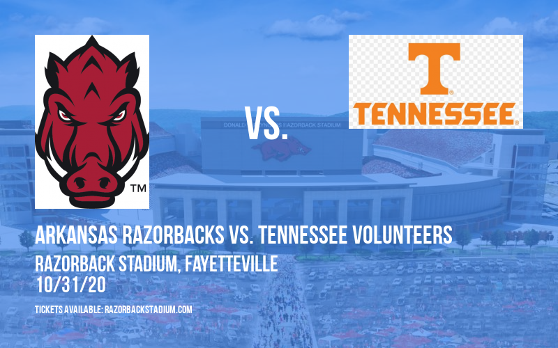Arkansas Razorbacks vs. Tennessee Volunteers at Razorback Stadium
