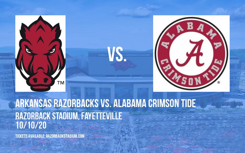Arkansas Razorbacks vs. Alabama Crimson Tide at Razorback Stadium