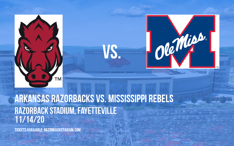 Arkansas Razorbacks vs. Mississippi Rebels at Razorback Stadium