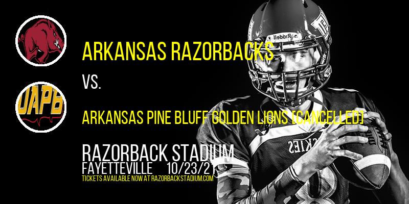 Arkansas Razorbacks vs. Arkansas Pine Bluff Golden Lions [CANCELLED] at Razorback Stadium