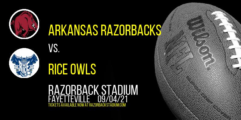Arkansas Razorbacks vs. Rice Owls at Razorback Stadium